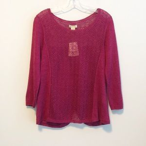NWT Lucky Brand Button Back Sweater